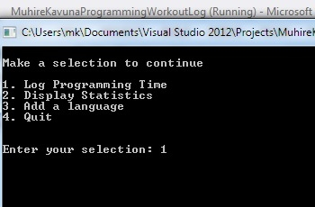 Programming Workout Log