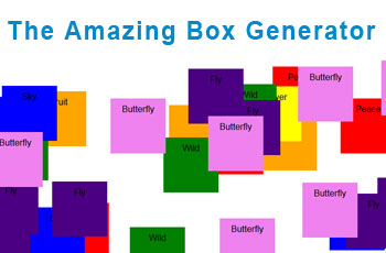 amazing box generator application - screenshot